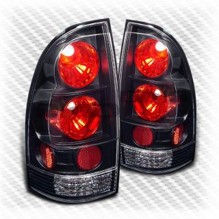 2005 2011 Toyota Tacoma Black altezza Tail Lights Rear Brake Lamp Pair Set Light