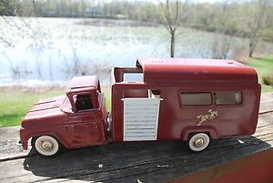 Buddy L Horse Trailer Truck 1960s Brick Red