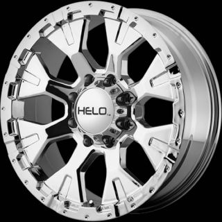 18x9 Chrome Helo HE878 Wheels 6x5 5 12 Lifted Chevrolet Tahoe Silverado 1500