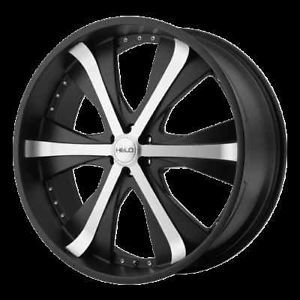 "20"" Wheels Rims Helo 869 Black Aspen RAM Dakota Raider"