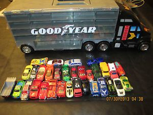Matchbox Hot Wheels Redbox Goodyear Semi Truck Car Carrier