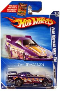 2010 Hot Wheels HW Racing 158 Ford Mustang Funny Car