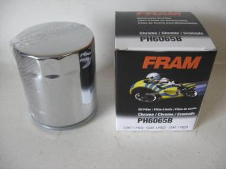 Harley Davidson Indian Motorcycle Cycle Fram PH6065B Chrome Oil Filter