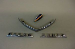 1940's Mopar Dodge Truck Fender Grille Hood Emblems Ornament Trim Molding Set