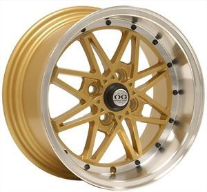 "15""OG Axis Old Skool Style Gold Wheels Rims Fit Scion XB XA 2004 2007"