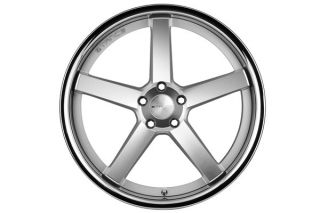 "19"" Benz C250 C350 Coupe Stance SC 5IVE Silver Concave Staggered Wheels Rims"