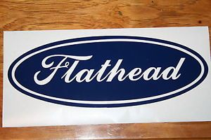Ford Logo Stlye Flathead Vinyl Decal Sticker for Your Car Truck Garage Trailer
