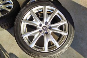 "Infiniti G37S 18"" Enkei Wheels Rims Tires Set Maxima Altima Accord 5x114 3"