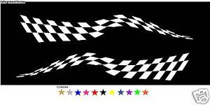 Checkered Flag Decals Boat Truck Trailer Semi RV Race