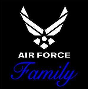 Air Force Military Family Car Decal Sticker Custom