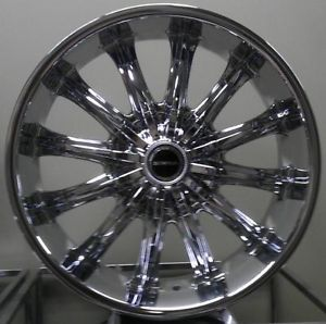 "20"" inch 6x5 5 6x135 Chrome Wheels Rims 6 Lug F150 Silverado 1500 Yukon"