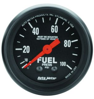 Auto Meter 2612 Z Series Mechanical Fuel Pressure Gauge