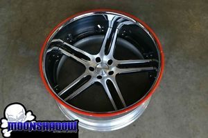 "22"" Marion MR4 Forged Chrome Wheel Rim 22x11 5x112 Parts Lip Bolts Asanti"