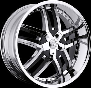 "20"" 22"" 24"" VCT Lombardi Chrome Black Wheels Cadillac cts STS DTS Rims"