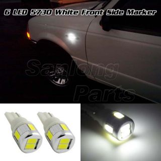 2X 6000K White High Power T10 194 2825 Front Side Marker SMD LED Car Lights