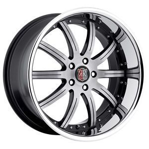 "19"" MRR RW3 Black Chrome Wheels Rims Fit Nissan Altima Maxima Murano 350Z 370Z"