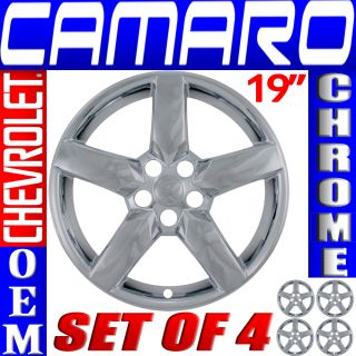 "4 PC Set Chevrolet Camaro 19"" Chrome Wheel Skins Rim Covers Hub Caps Wheels"