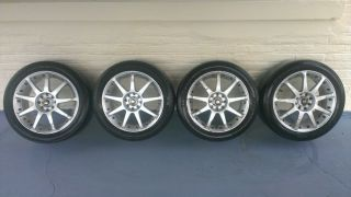Enkei T1 16X7J Alloy Wheels Set of 4 Mounts P205 50R 16 Performance Tires