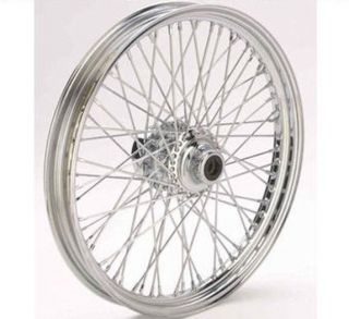 DNA Chrome 21 x 2 15 60 Spoke Front Wheel Harley Softail Wide Glide Chopper