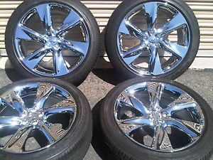 "21"" Infiniti FX50 Sport Chrome Factory Wheels Tires FX45 FX35 New H 71715"