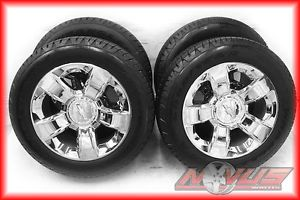 "20"" 2014 Chevy Silverado Tahoe LTZ GMC Yukon Chrome Wheels Tires 22 18 GM"