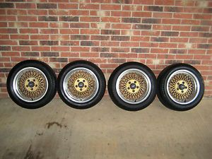 "Set of 1985 BMW 635CSI 16"" Enkei Wheels and P205 55 R16 Goodyear Eagle LS Tires"