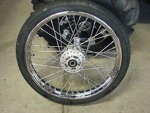 Harley Sportster Dyna 21 inch Chrome Spoke Front Wheel Damaged