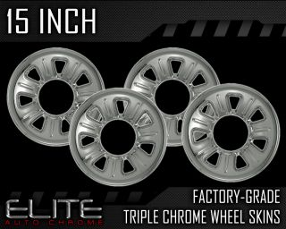 "01 11 Ford Ranger 15"" Chrome Wheel Skin Covers 01 2011"