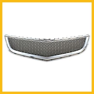 2009 2012 Chevy Traverse Front Lower Grille Chrome Molding Dark Gray Mesh Insert