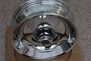 "17"" Harley Davidson Chrome Solid Dish Wheel 2006 Softail FX Models 41647 06"