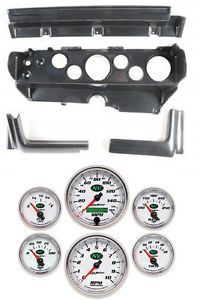 70 74 Mopar E Body Carbon Dash Gauge Carrier Panel w Auto Meter NV Gauges