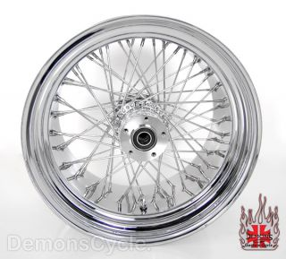 "21"" 18x10 5"" Chrome Rims Wheels 60 Spokes 300 Wide Tire Set Fits Custom Harley"