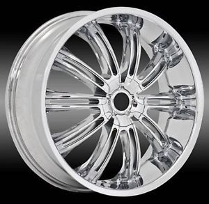 "22"" 24"" Chrome Center Cap Rims Wheels Status 811"