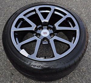 Cadillac CTSV cts V Coupe Black Chrome Wheels Rims Tires Stock 19x9 19x10