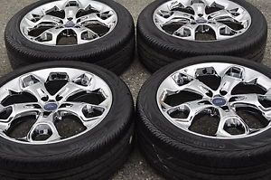 "19"" Ford Escape Chrome Wheels Rims Tires Factory Wheels 2013 2014 3947"