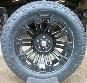 "20x10 KMC XD Brigade Black Toyo Open Country AT2 305 55R20 33"" Tires Jeep"