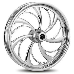 "RC Components Helix Chrome 21"" ft RR Wheel Tire Package Harley Touring 2009 Up"