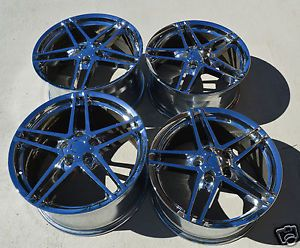 "18"" 19"" 9 5 10 Chrome Corvette C6 Z06 Style Wheels Rims Used Camaro C5"