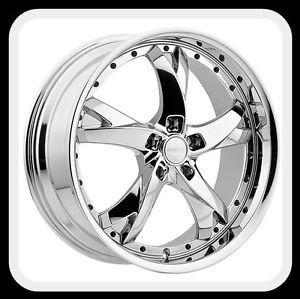 "18"" Menzari Z11 Viaggio BMW Series 1 128 135 MDX Chrome Wheels Rims Free Lugs"