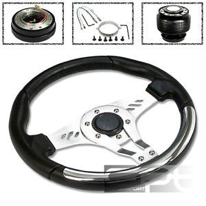 Honda 320mm 6 Hole Black Chrome Trim Steering Wheel Quick Release Hub Adapter