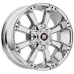 18 inch 18x9 Ballistic Morax Chrome Wheels Rims 6x135 Ford F150 Expedition 6 Lug