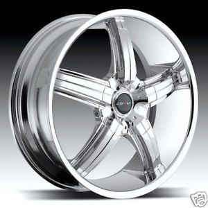 "18"" Driv D Bomb Chrome D Bomb 18 inch 5 Lug Rims Wheels Tires"
