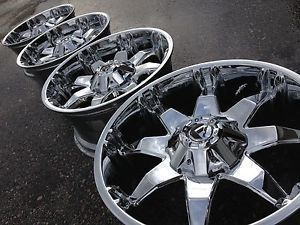 "20"" Fuel Octane Ford F250 Superduty Chrome Wheels Rims 8x170 BMF RBP Rockstar XD"