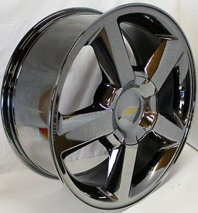 New Chevy Tahoe Suburban Avalanche Silverado LTZ Black Chrome 20 in Wheels Rims