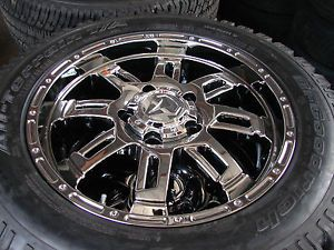"4 20"" Toyota Tundra Sequoia Ultra Chrome Wheels Rims BFGoodrich Tires"