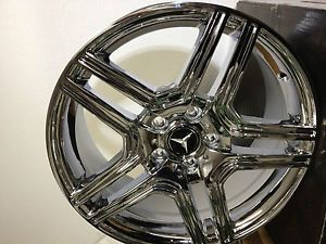 17 inch Chrome Mercedes AMG Factory OE Wheels Rims C Class 5x112 17x7 5