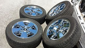 "2011 Chevrolet Tahoe Silverado 20"" Wheels Chrome Avalanche Rims Factory Tire"