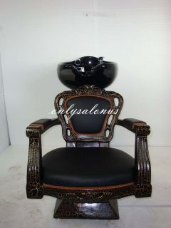 The Perfect Package 1 x Backwash Unit 2 x Styling Barber Chair Antique Stlye