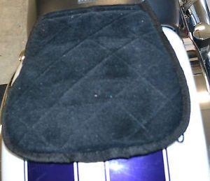 Harley Davidson Motorcycle Passenger Gel Pad Cushion Seat Black Butt Buffer