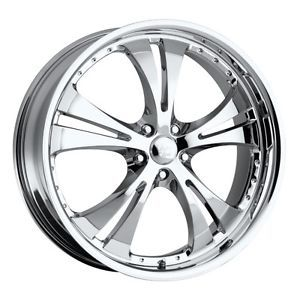 18 inch Vision Shockwave Chrome Wheels Rims 5x100 38